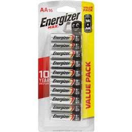 Energizer Max Aa Batteries 16 pack - Half Price