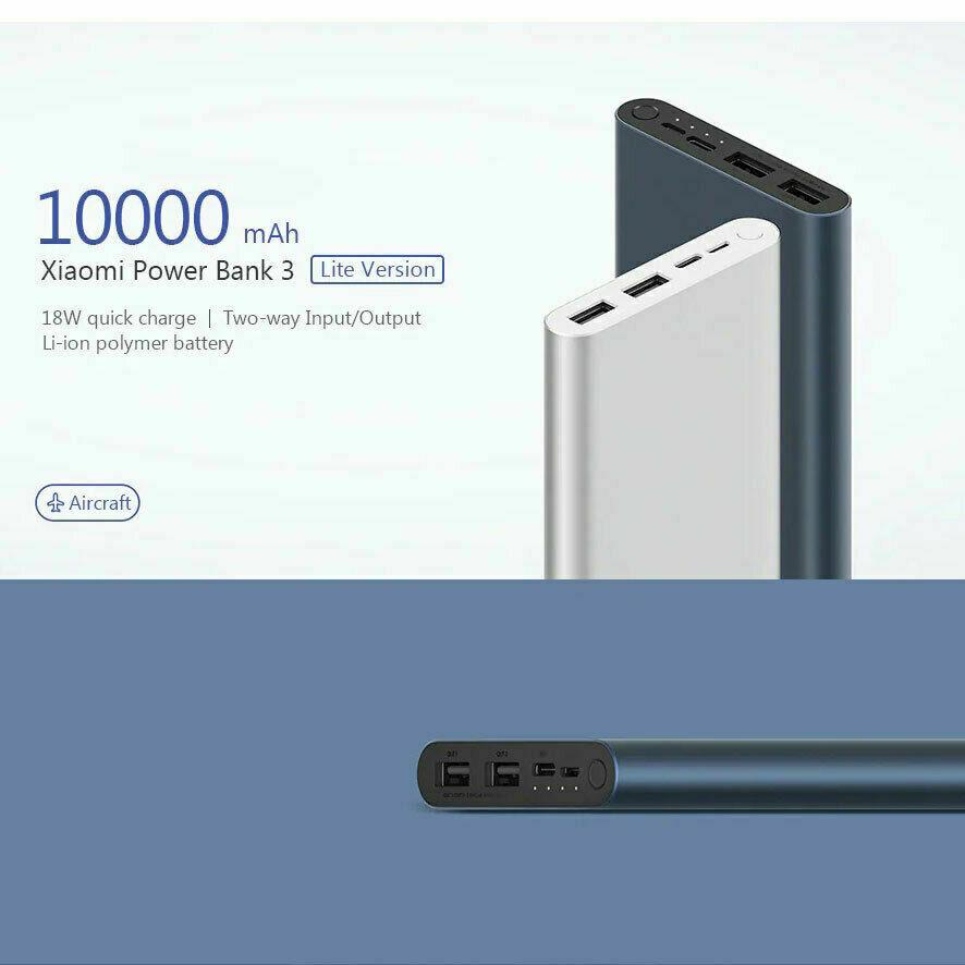[eBay Plus] Xiaomi Power Bank 3 10000mAh