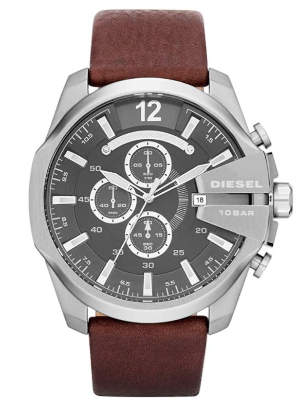 Diesel Men's Chief Stainless Steel Brown Leather Watch