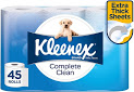 KLEENEX Complete Clean Toilet Tissue 45 Rolls, $17.5 ($15.75 with S&S) Delivered with Prime or $39 Spend @ Amazon AU