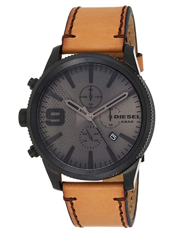 Diesel Men's Rasp Chrono 50 Black IP Watch
