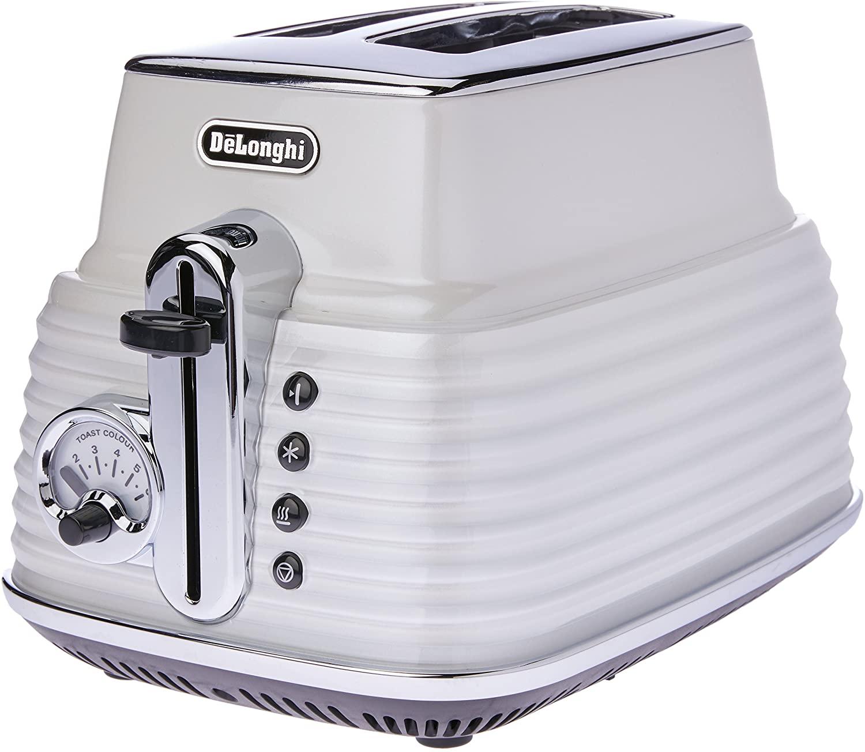 De'Longhi Scultura, 2 Slice Toaster, CTZ2003W, Zinc White
