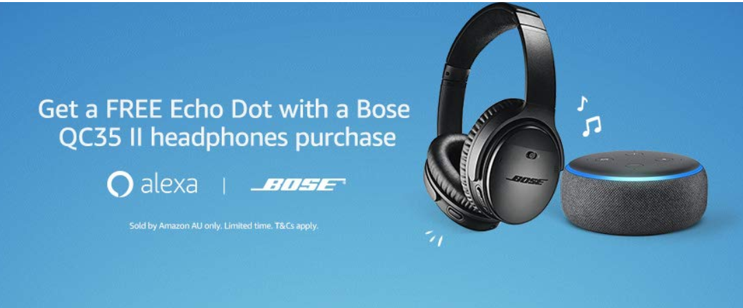 Purchase Bose QC35 II headphones and get a free Echo Dot (3rd gen)