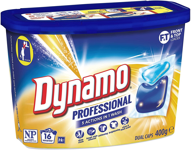Dynamo Professional 7in1 Laundry Detergent Dual Capsules, 16 Capsules