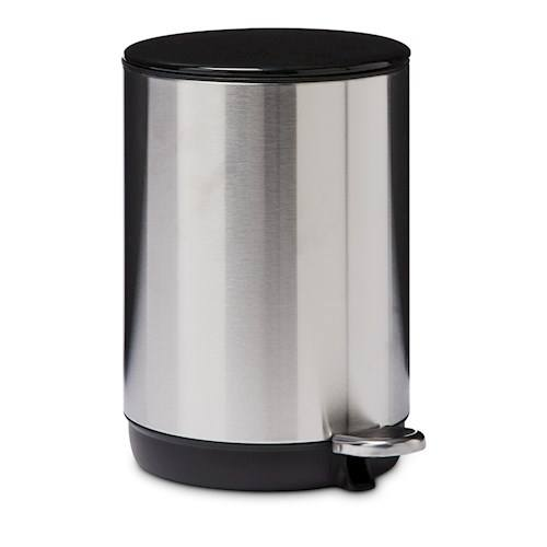 Home Republic Round Brushed Steel Dust Bin