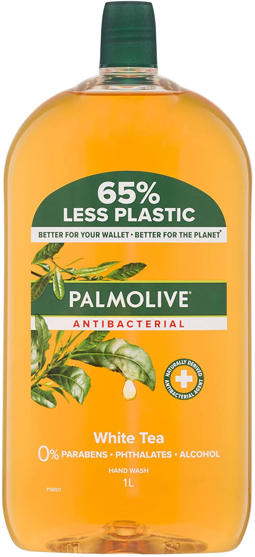 Palmolive Antibacterial Liquid Hand Wash Soap White Tea Refill, 1L