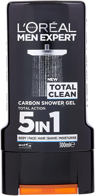 L'Oréal Paris Men Expert Total Clean Carbon Shower Gel For Men, 300ml