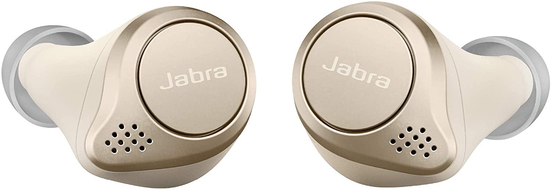 Jabra Elite 75t Earbuds, True Wireless Earbuds with Charging Case, Gold Beige