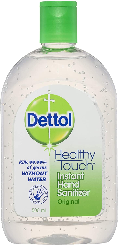 Dettol Healthy Touch Liquid Antibacterial Instant Hand Sanitiser, 500ml