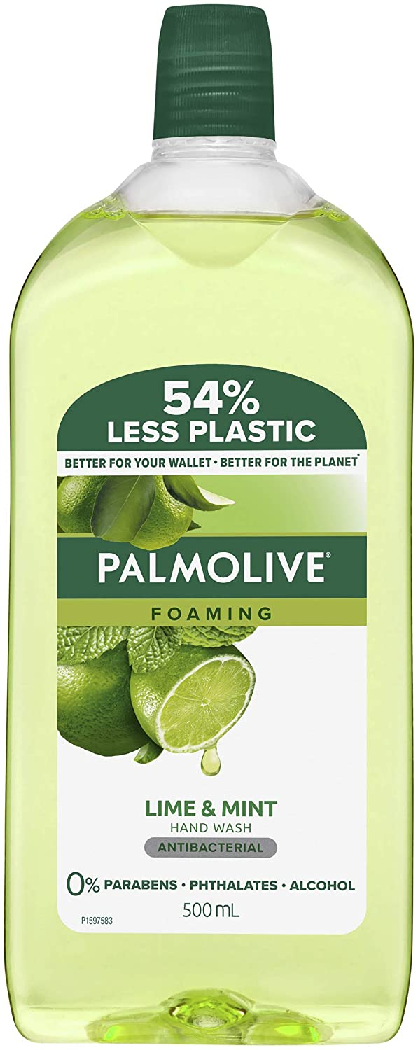 Palmolive Foaming Antibacterial Hand Wash Lime and Mint Refill, 500mL