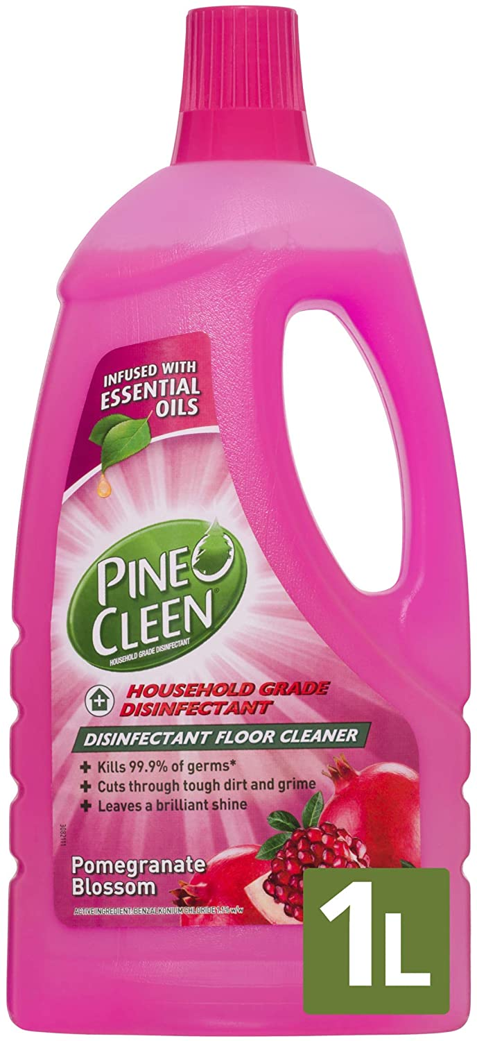 Pine O Cleen Antibacterial Disinfectant Liquid Floor Cleaner Pomegranate Blossom, 1L