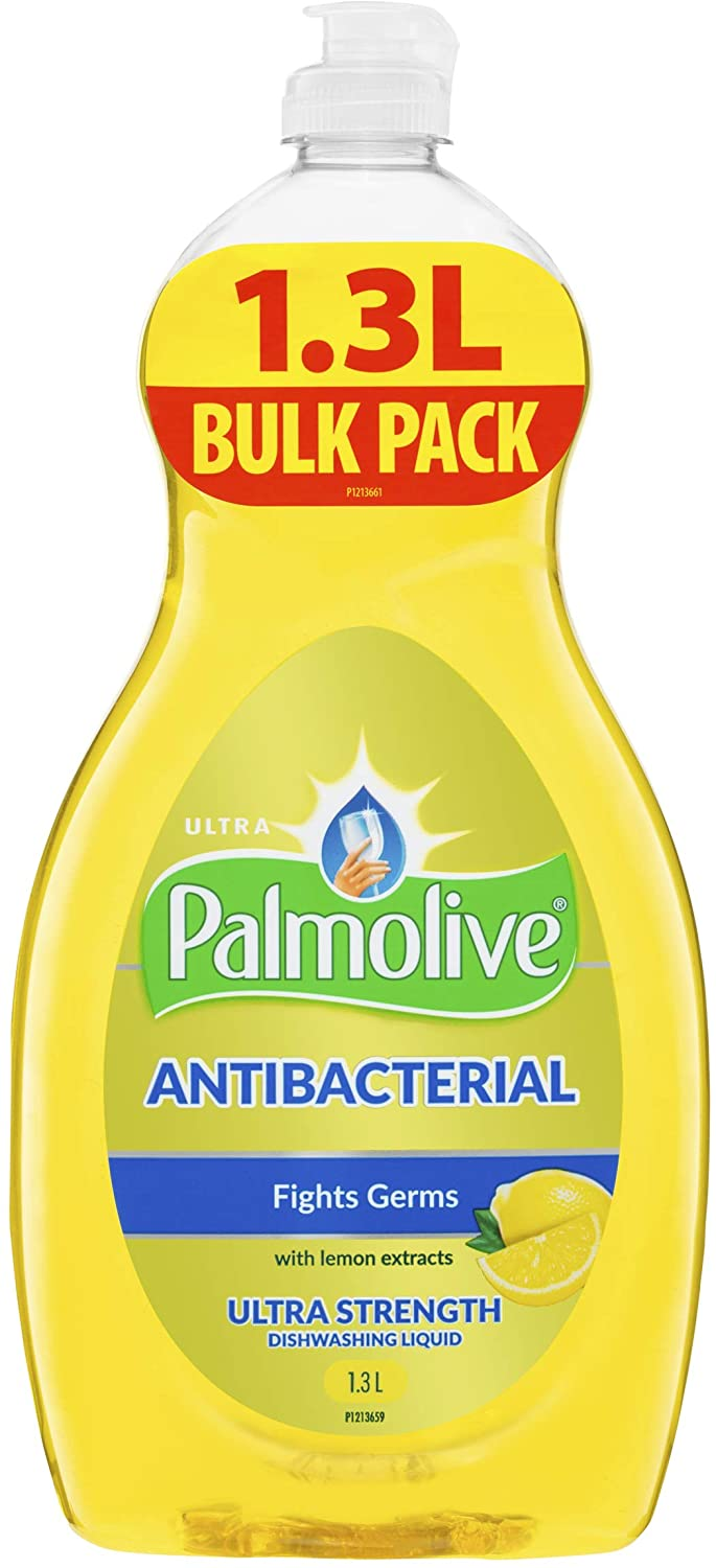 Palmolive Antibacterial Concentrate Dishwashing Liquid Ultra Strength with Lemon Extracts, 1.3L