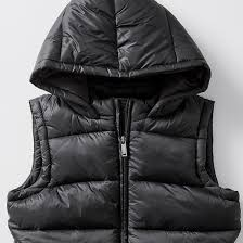 [Clearance] Kids Size 7-16 Hooded Puffer Vest - Black