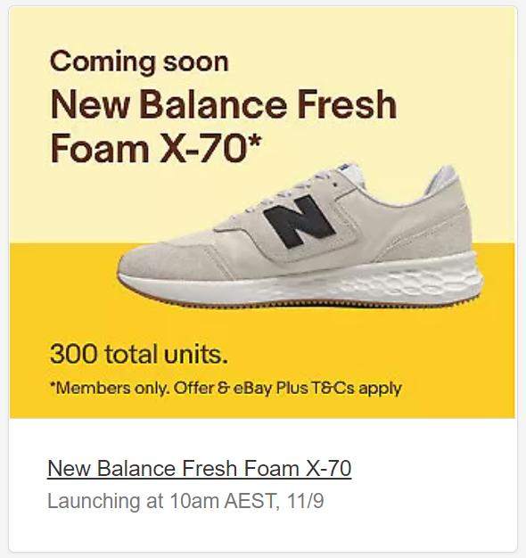 eBay Daily Deals - New Balance Fresh Foam X70