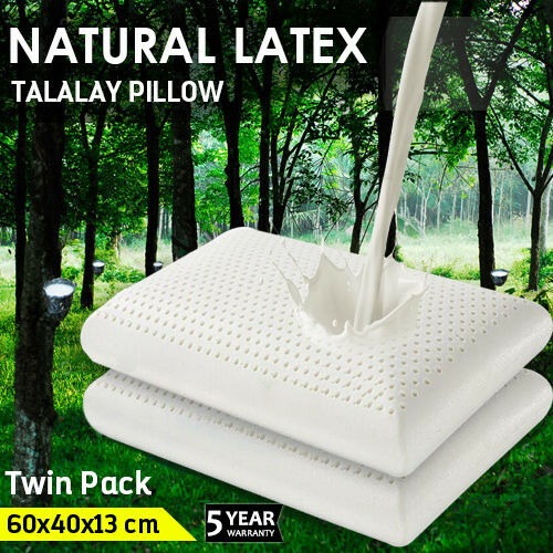 [eBayPlus - Extra 21% off] 2x 100% NATURAL TALALAY LATEX PILLOW