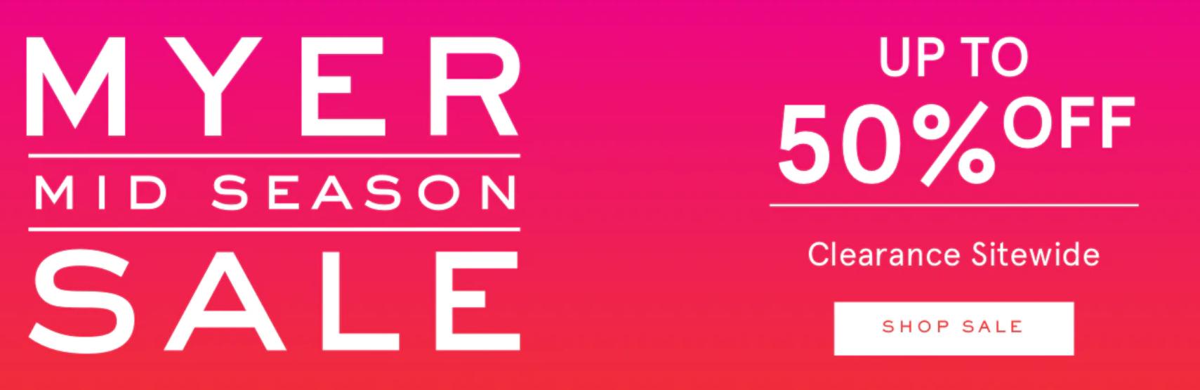 Myer - The Mega Shoe Sale (Min 40% off) | Mid Season Clearance Sale