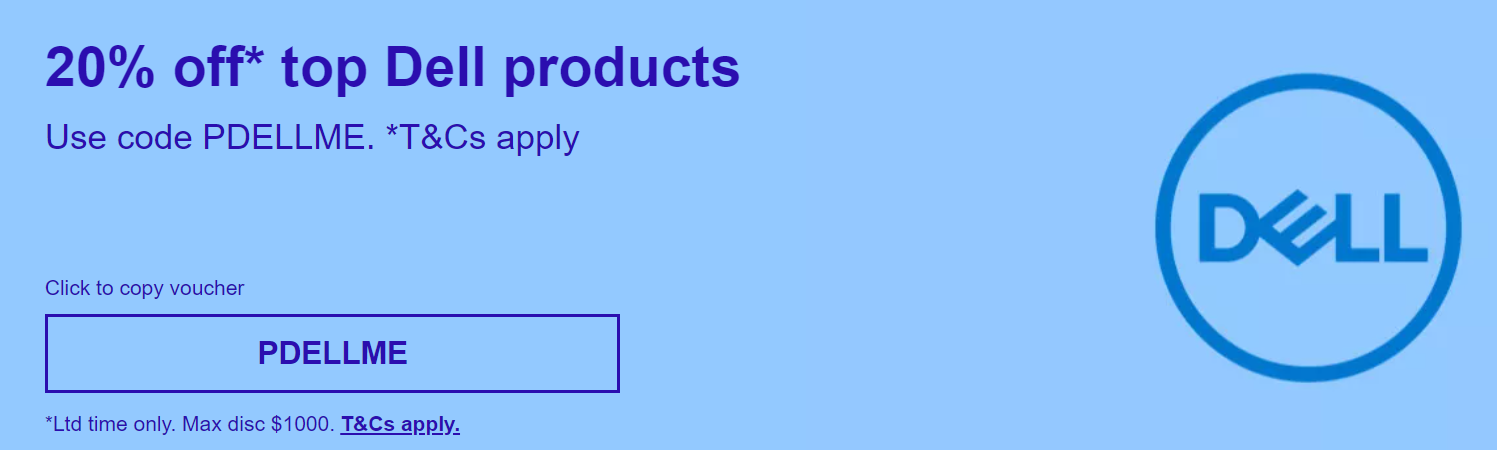 20% off Dell products @eBay Dell Store