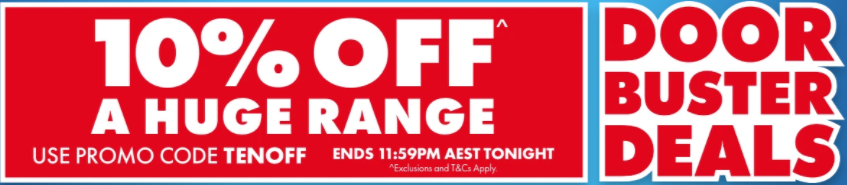 [Today only] Extra 10% off a huge range