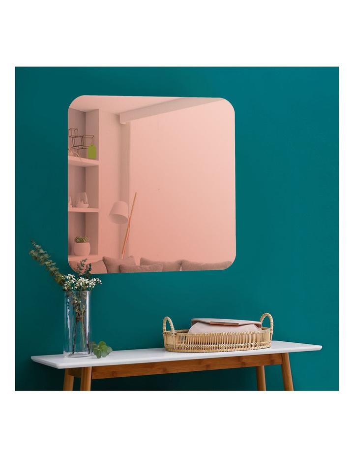Cooper & co Issy Urban Frameless Square Mirror Rose Gold 70 cm