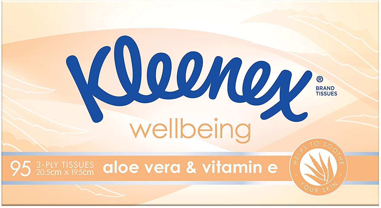 Kleenex Facial Tissues Aloe Vera/Eucalyptus, 95 Tissues