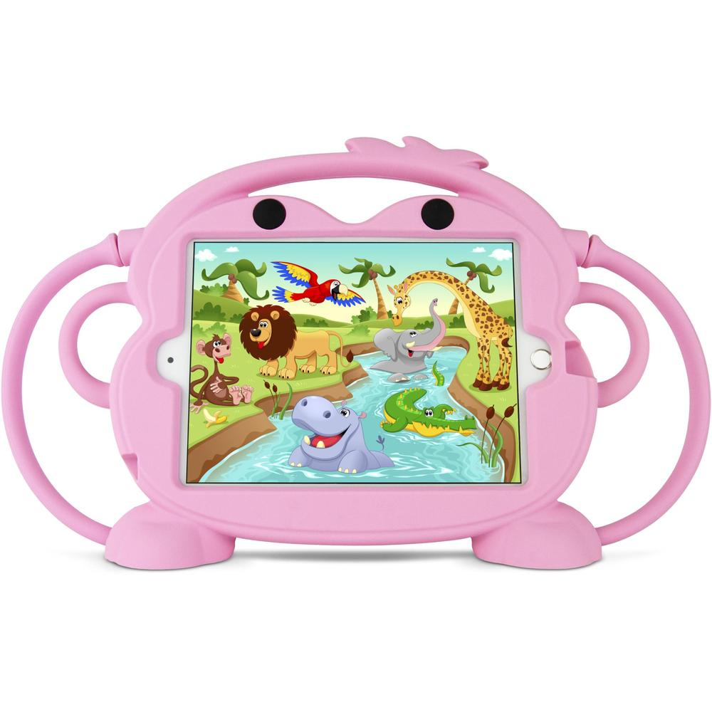 Gecko Kids Monkey Bumper Case with Handles for iPad mini 1/2/3/4/5 (Pink)