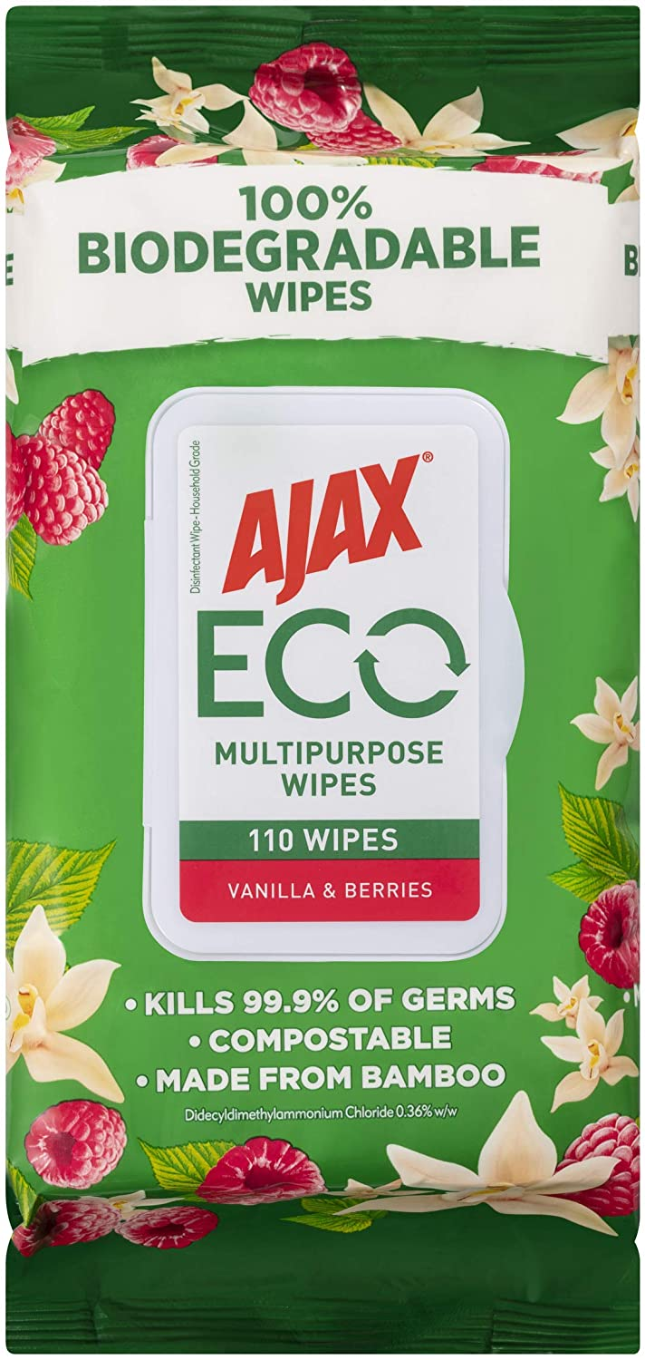 Ajax Eco Multipurpose Antibacterial Wipes 110 Pack $4.75 (50% off) Delivered with Prime @ Amazon AU