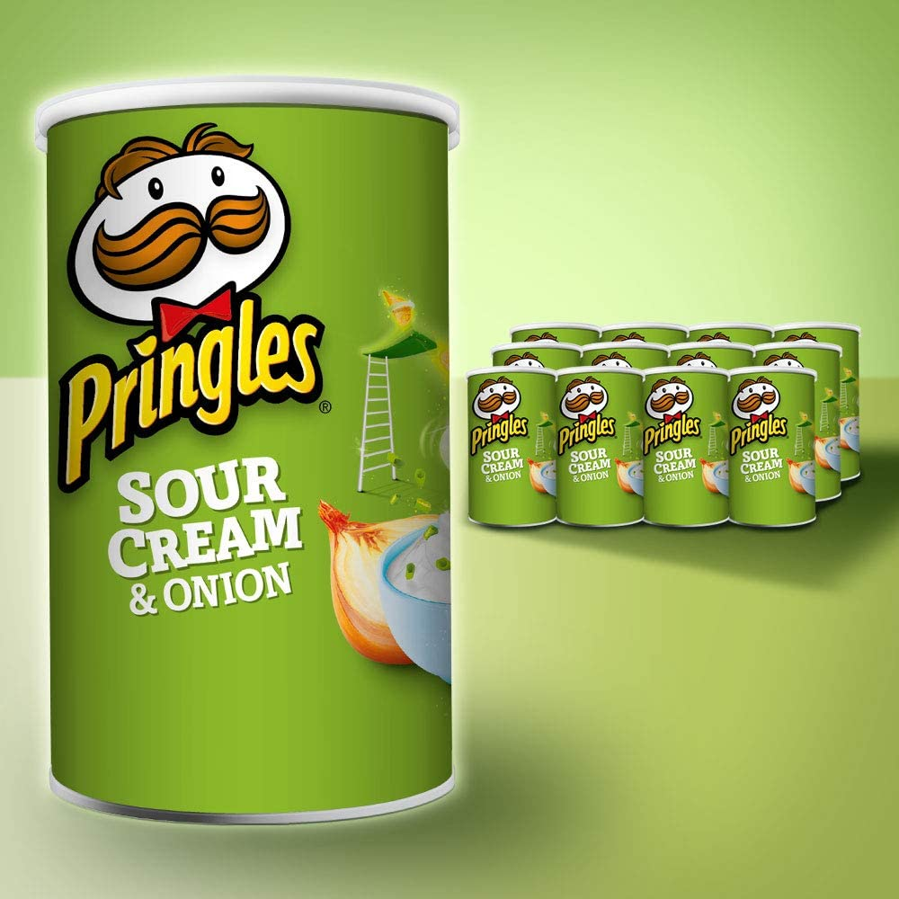 Pringles Sour Cream & Onion/Original, 12 Pack (12 x 53g) for $11 or $9.9 with S&S Delivered @ Amazon AU