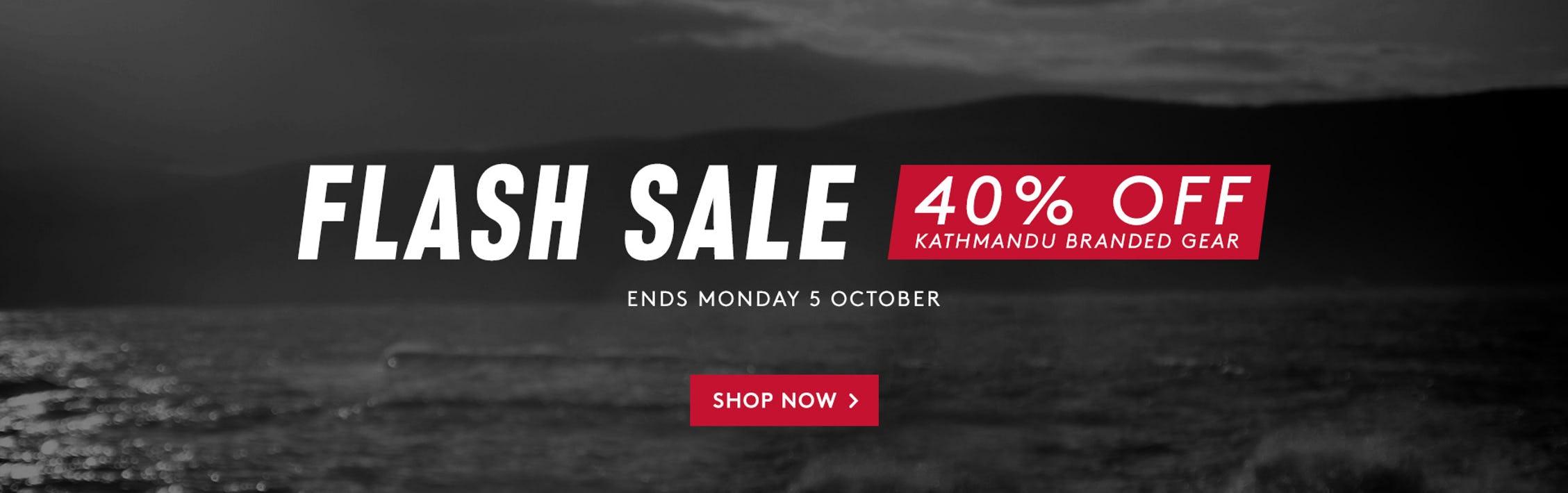 Flash Sale   40% off Kathmandu Branded Gear