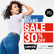Vogue Online Shopping Night - 30% off Everything (Levis, Lee, Guess, mavi) @ Just Jeans