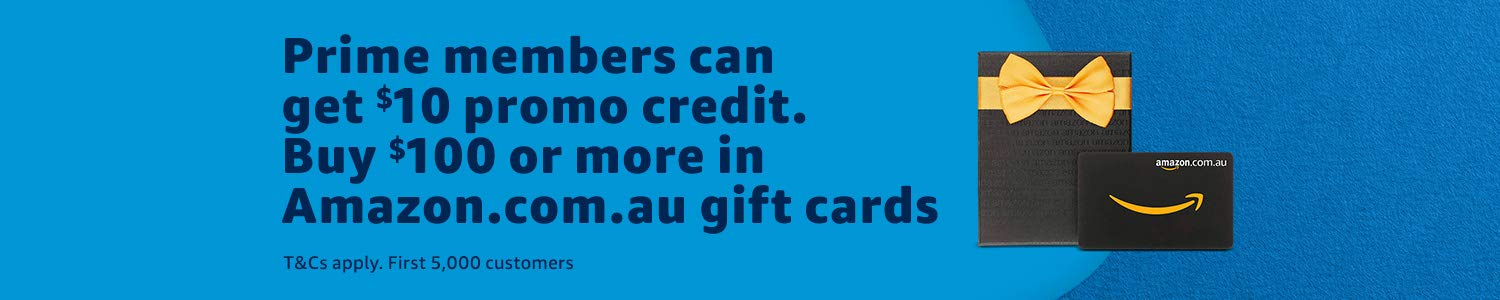 Prime Day Sale - Get $10 Promo Credit with Purchase of $100 Amazon AU Gift Card