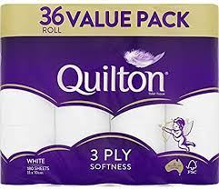 Prime Day Sale - Quilton 3 Ply Toilet Tissue Pack of 36, $11.2 (was $16) @ Amazon AU