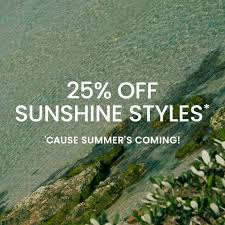 Extra 25% off Sunshine Styles - Summer Sale @ The Iconic