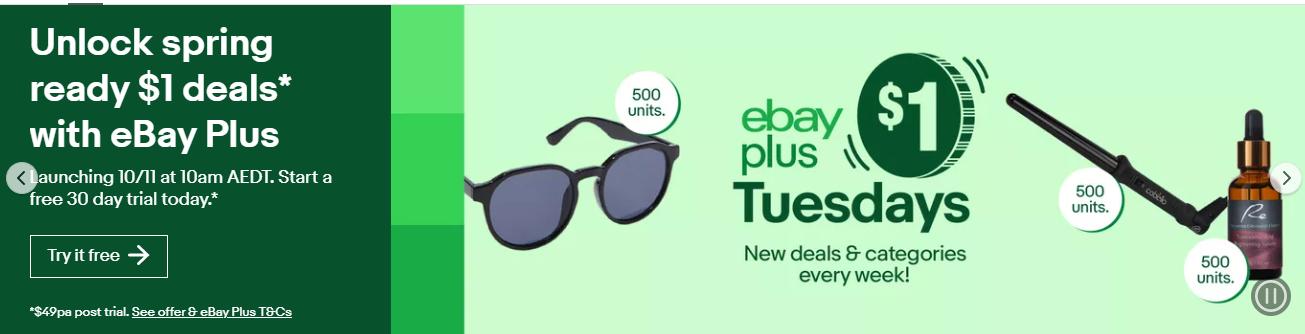 [eBay Plus] $1 Tuesday Deals in November @ eBay [Tomorrow 10AM] Cabello 3 Wand Curler, $1 (Was $64.95); Tranexamic Acid Brightening Serum, $1 (was $24.95) & more