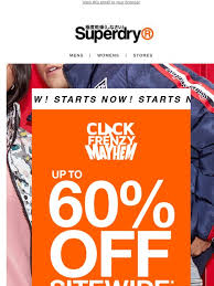 Super Frenzy 20-60% off sitewide @ Superdry