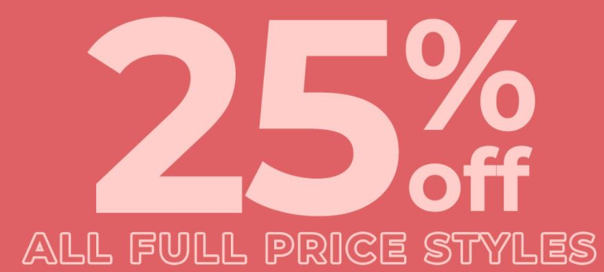 Click Frenzy - 25% off all Full Prices Items @ Jay Jays