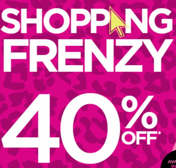 Shopping Frenzy - 40% off almost everything @ Crossroads