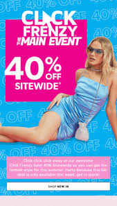 Click Frenzy The Main Event | 40% off sitewide @ Ally Fashion