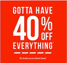Sale Frenzy   40% off Everything @ Bonds