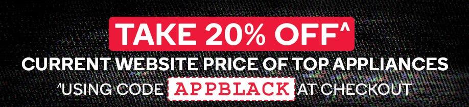 Take Further 20% off Top Appliances @ Kogan