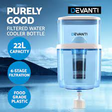 Devanti 22L Water Dispenser Purifier Filter Bottle Container 6 Stage Filtration, $45.9 Shipped @ Amazon AU