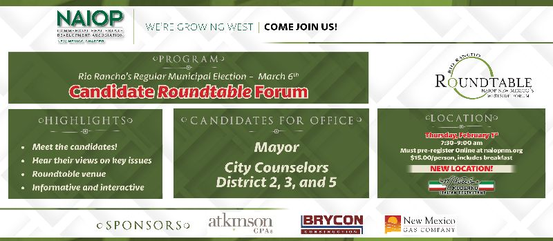 Rio Rancho's Regular Municipal Election - Candidate Roundtable Forum