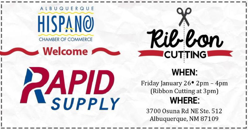 """AHCC Welcomes """"Rapid Supply"""" Ribbon Cutting & Networking"""
