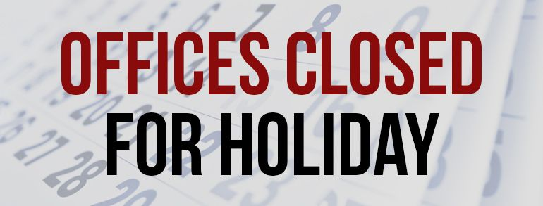 Chamber Offices Closed