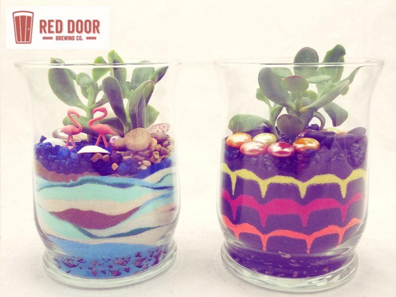 Make a Sand Art Terrarium at Red Door Brewing