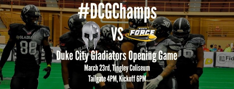 Opening Day Duke City Gladiators vs. Wichita - Special Guest John Harbaugh of the Baltimore Ravens
