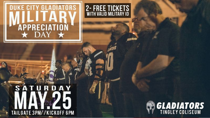 Duke City Gladiators Military Appreciation Night