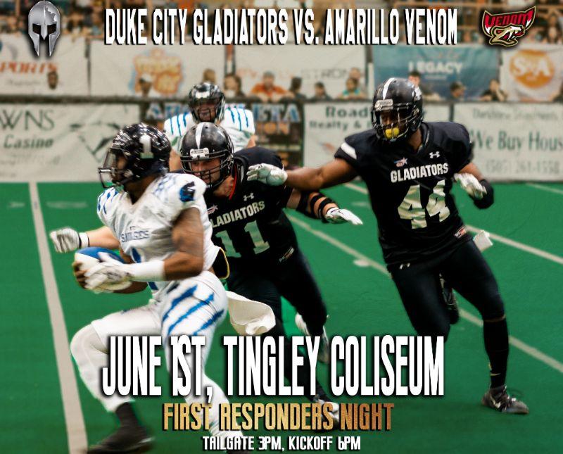 Duke City Gladiators vs Amarillo Presented by Lend Smart Mortgage