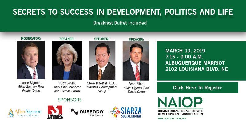 Secrets To Success In Development, Politics & Life, Breakfast