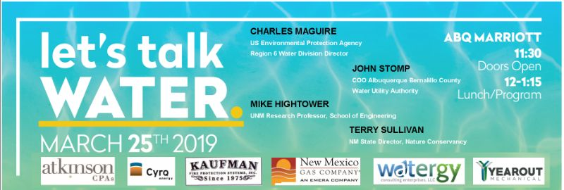 Let's Talk WATER. NAIOP NM Luncheon | CEU CREDIT PENDING!