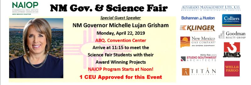 NM Gov. & Science Fair, Luncheon @ the ABQ Conv. Center 1 CEU